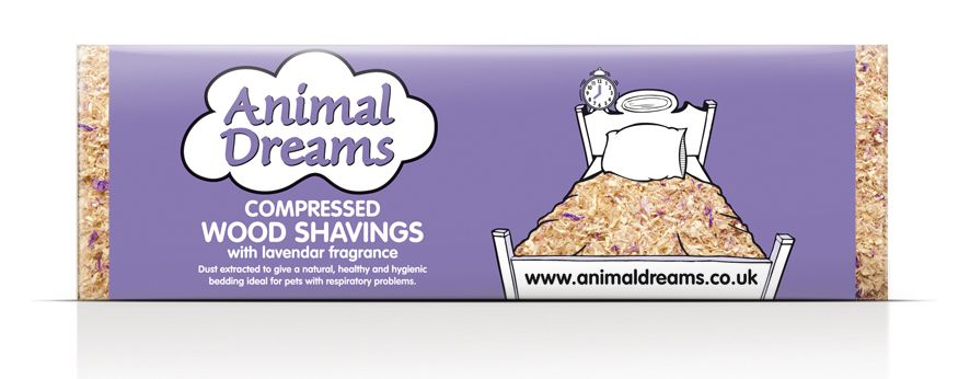 Animal Dreams Compressed Lavender Shavings For Bedding Small Animals 3.5kg