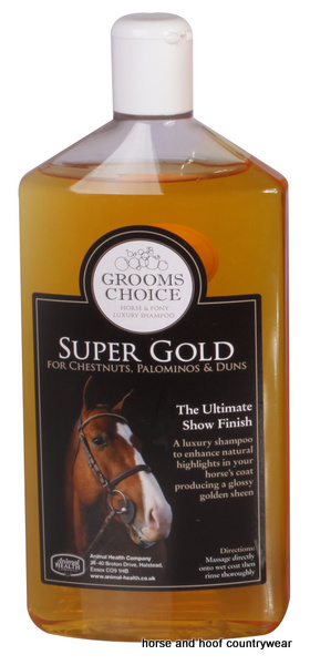 Animal Health Company Grooms Choice Super Gold Shampoo