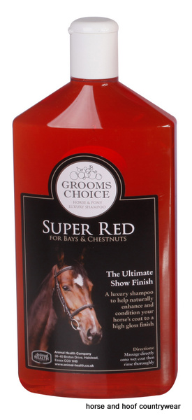 Animal Health Company Grooms Choice Super Red Shampoo