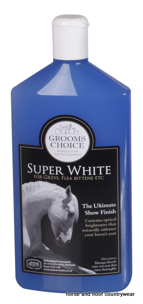 Animal Health Company Grooms Choice Super White Shampoo