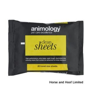 Animology Clean Sheets Pet Wipes 20 Pack