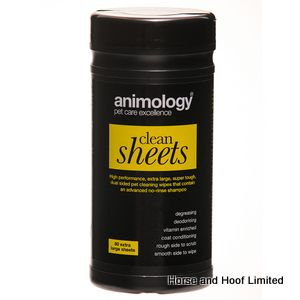 Animology Clean Sheets Pet Wipes - 80 sheets