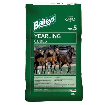 Baileys No.5 Yearling Cubes Horse Feed 20kg