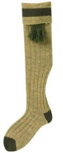 Bisley Mustard Olive Shooting Stocking With Garters