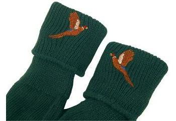 Bisley Olive Pheasant Embroidered Stocking