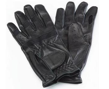 Black Leather Shooting Gloves