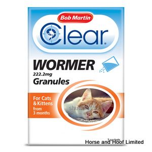 Bob Martin Clear Wormer Granules for Cats & Kittens x 6