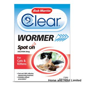 Bob Martin Clear Wormer Spot On for Cats & Kittens 6 x 4