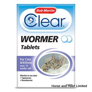 Bob Martin Clear Wormer Tablets for Cats & Kittens 6 x 2