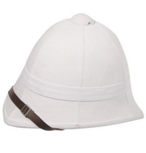 British White Pith Helmet