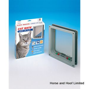 Cat Mate Cat Flap 4 Way Locking with Door Liner - Large