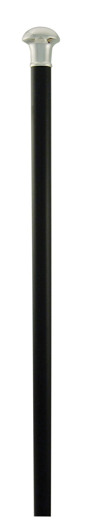 Classic Canes Silver plated formal cap stick on black hardwood shaft