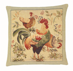 Country Hens I - Fine Tapestry Cushion