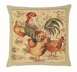 Country Hens II- Fine Tapestry Cushion