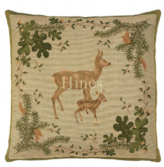 Deer & Fawn - Fine Tapestry Cushion