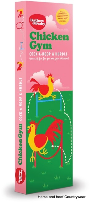 Feathers & Beaky Chicken Gym Hoop & Hurdle