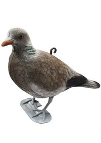 Flocked Pigeon With Legs Decoy