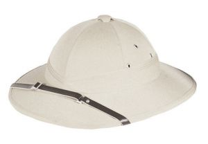 French Pith Helmet - White