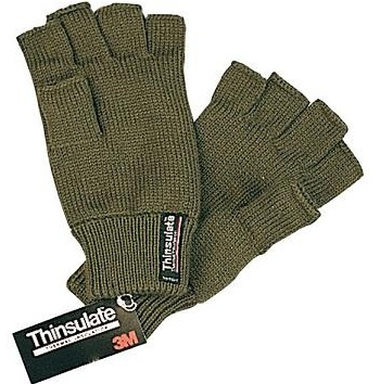 Green Bisley Thinsulate Fingerless Gloves