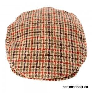Heather Hats Duncan Lambswool Tweed Flat Cap - Beige/Brown