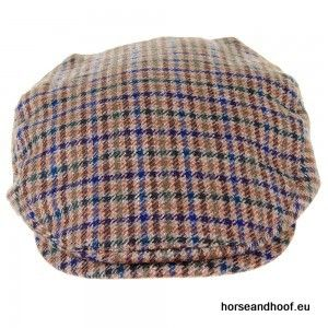 Heather Hats Duncan Lambswool Tweed Flat Cap - Green/Blue