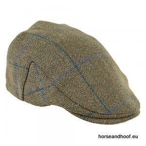 Heather Hats Fox Derby Tweed Flat Cap - Blue Stripe