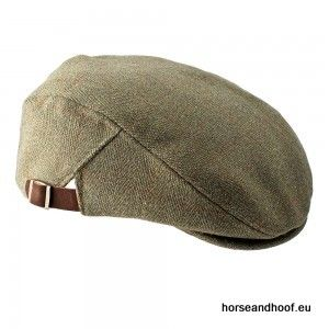 Heather Hats Graywood Adjustable Derby Tweed Cap - Dark Green/Gold Stripe