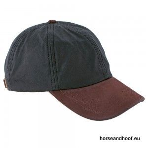 Heather Hats Hamilton Wax Leather Peak Baseball Cap - Black