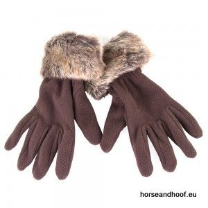 Heather Hats Ladies Alicia Faux Fur Gloves - Brown