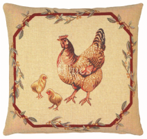 Hen & Chicks - Fine Tapestry Cushion