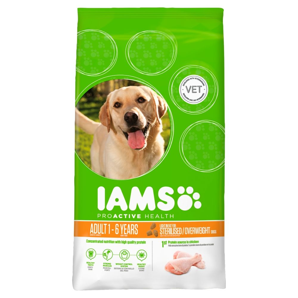 Iams Dog Light Chicken Dog Food 3kg