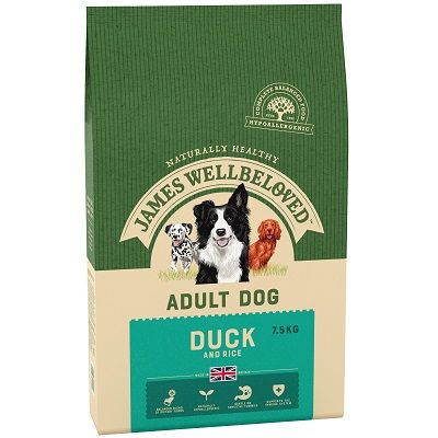 James Wellbeloved Duck & Rice Adult Dog Food 7.5kg