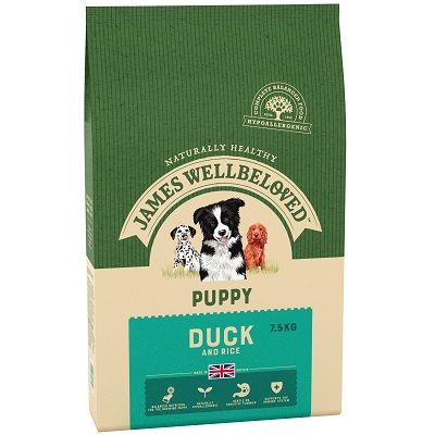 James Wellbeloved Duck & Rice Puppy Food 7.5kg