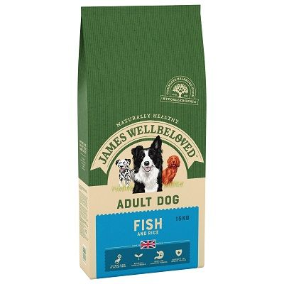 James Wellbeloved Fish & Rice Adult Dog Food 15kg