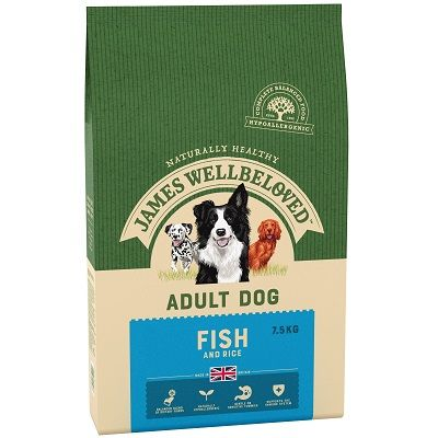 James Wellbeloved Fish & Rice Adult Dog Food 7.5kg