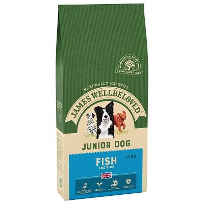 James Wellbeloved Fish & Rice Junior Dog Food 15kg