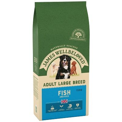 James Wellbeloved Fish & Rice Large Breed Dog Food 15kg