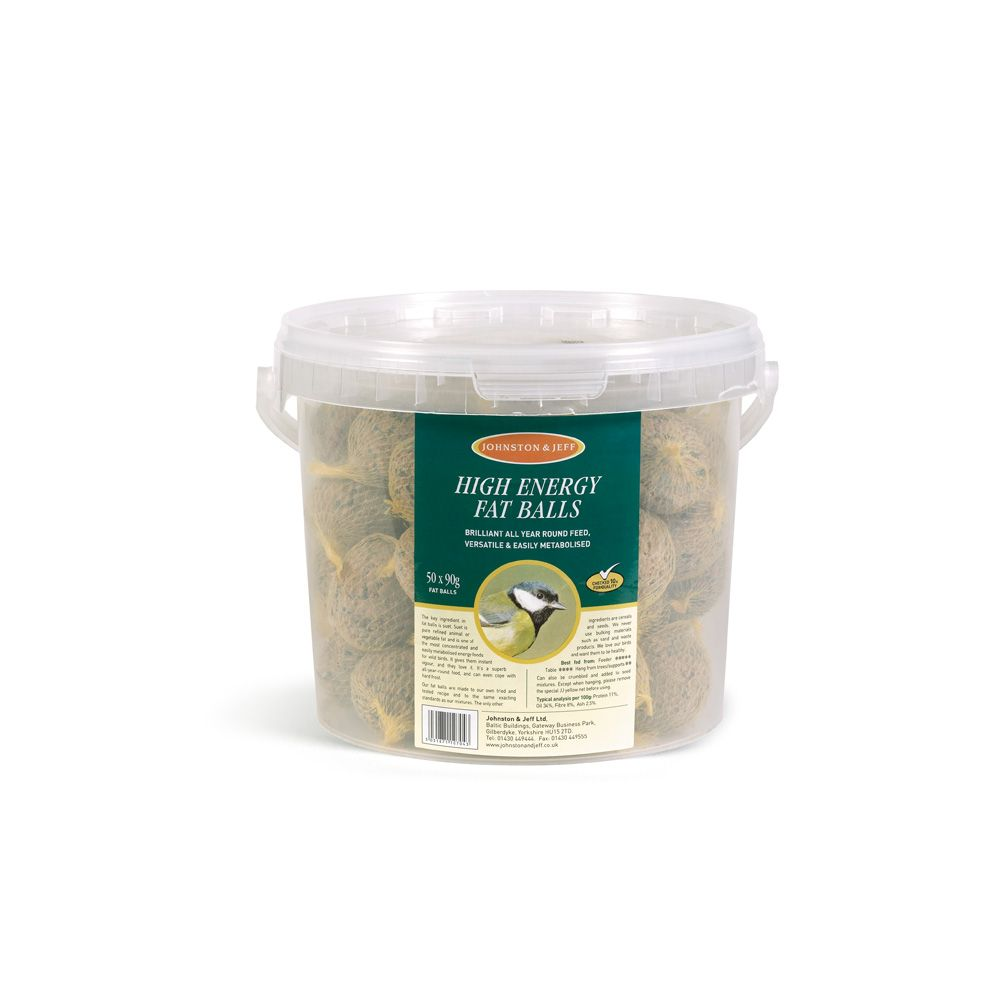Johnston & Jeff Fatballs Bird Food  Without Nets 50 x 90g