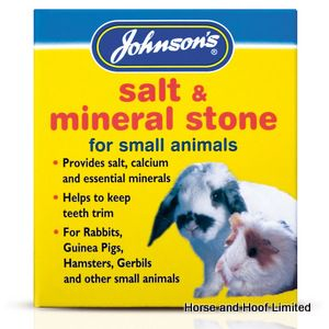 JVP Salt & Mineral Stone For Small Animals  6 x 120g