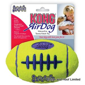 Kong Air Medium Squeaker Football Dog Toy