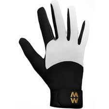 MacWet Long Mesh Sports Gloves - Black and White
