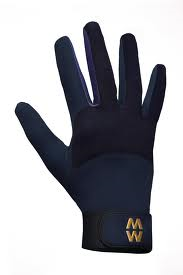 MacWet Long Mesh Sports Gloves - Navy