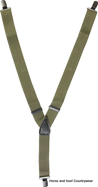 Mil-com Clip-on Braces - Olive Green