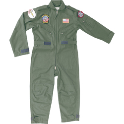 Mil-Com Kids Flying Suit-Olive Green