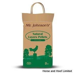 Mr Johnsons Natural Layers Pellets Poultry Feed 5kg