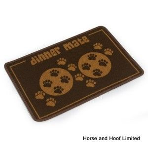 Pet Rebellion Brown Paws Dinner Mat For Dogs