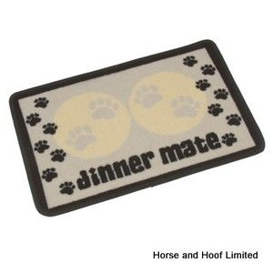 Pet Rebellion Cream Paws Dinner Mat For Dogs