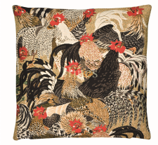 Roosters I - Fine Tapestry Cushion