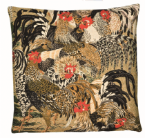 Roosters II - Fine Tapestry Cushion
