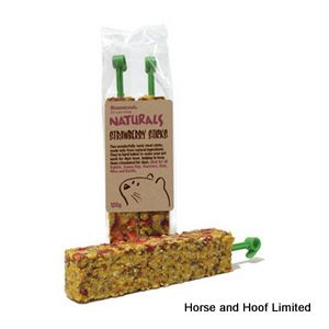 Rosewood Naturals Strawberry Sticks For Small Animals  120g